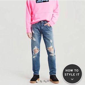 Levi's Premium warp stretch ripped jeans 36x32